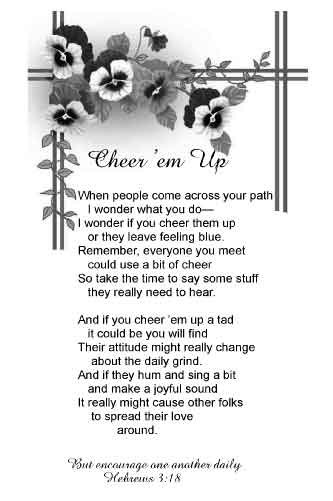 Cheer Up Friend Poem